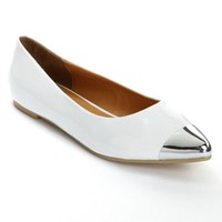 Sacred Heart Triana Capped-Toe Flats - Women