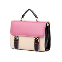 Armeley Candy-colored Retro Hit Color Ladies Bag Postman Bag Handbag