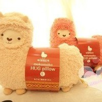 White color Aunt Merry Mokomoko Llama Alpaca Hug Pillow Cushion Doll
