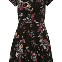 Multi Floral Print Twist Dress