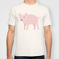 Geometric Pig T-shirt by mollykd