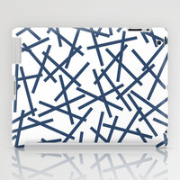 Kerplunk Repeat Navy on White iPad Case by Project M