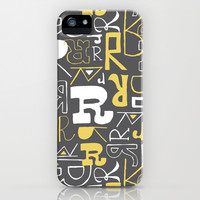 Alphabet pattern 1 iPhone & iPod Case by mollykd