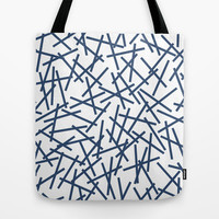 Kerplunk Repeat Navy on White Tote Bag by Project M