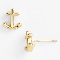 kate spade new york 'anchors away' mini stud earrings | Nordstrom