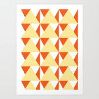 Geometric Pattern 3-Yellow Art Print by mollykd