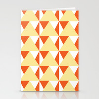 Geometric Pattern 3-Yellow Stationery Cards by mollykd