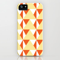 Geometric Pattern 3-Yellow iPhone & iPod Case by mollykd