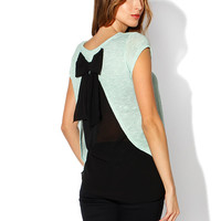 Papaya Clothing Online :: BACK BOW KNIT TOP