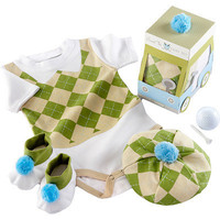 Baby Aspen Sweet Tee 3-Piece Golf Layette Set in Golf Cart Gift Box | Meijer.com