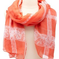 LIGHTWEIGHT LACE-PRINTED SCARF