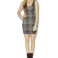 Tribal Printed Bodycon Dress | Wet Seal