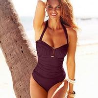 Bleu by Rod Beattie Ruched One-Piece Swimsuit