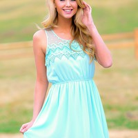 Sweet Disposition Dress-Mint