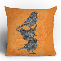 DENY Designs Home Accessories | Valentina Ramos 3 Little Birds Throw Pillow
