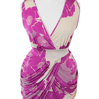 Plus Size Silky Blossom Purple Bubble Dress, Plus Size Clothing, Club Wear, Dresses, Tops, Sexy Trendy Plus Size Women Clothes