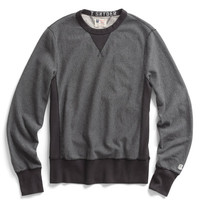 Dark Charcoal Reverse Weave Sweatshirt