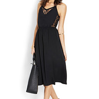 Surplice Lace Slip Dress