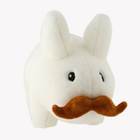 Happy Labbit White Stache Plush Toy 14-Inch | Kidrobot