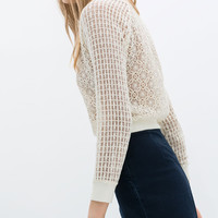 COMBINED CROCHET SWEATER