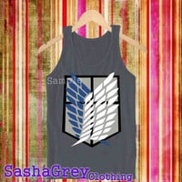 Attack on Titan Shingeki new Chacoal _ Tank Top Men's Size S - XXL Design By : sashagreystore