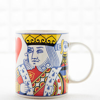 King of Hearts Mug in White - Urban Outfitters