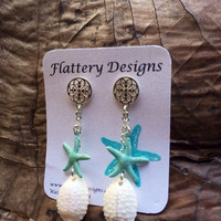 Starfish Cowrie Earrings