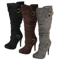 Glaze by Adi Womens Faux Suede Slouchy Tall Boots|Meijer.com