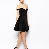 ASOS Scuba Bardot Skater Dress