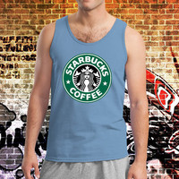 Starbucks Coffee Logo Screenprint Shirt Tank Top Tanktop Tshirt T Shirt Men Tanktop