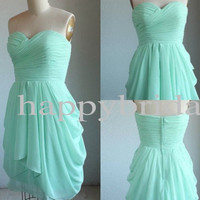 Short Mint Bridesmaid Dresses Lovely Sweetheart Bridesmaid Dresses Homecoming Dresses Formal Party Evening Dresses