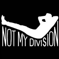 [QTY 5] NOT MY DIVISION STICKERS DECALS [3 X 3 INCH]