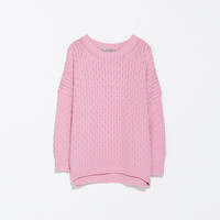 CABLE STITCH OVERSIZE SWEATER