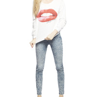 Marilyn Monroe Lips Sweatshirt | Wet Seal