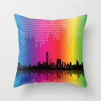Urban Rhythm Throw Pillow by Texnotropio