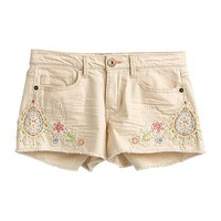 Mudd® Crochet Denim Shortie Shorts - Juniors