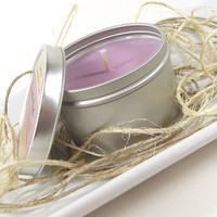 Scented Candle - Lavender Apple scented Soy Candle Tin -- 8 ounce Tin