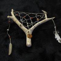 "Tribal, shamanic dream catcher ""Deer's dream"""