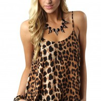 Essential Leopard Button Tank
