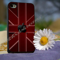 red flaq apple - for iPhone 4/4s, iPhone 5/5S/5C, Samsung S3 i9300, Samsung S4 i9500 Hard Case *rafidodolcasing*