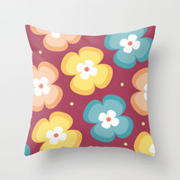 Floral Pattern 4 Throw Pillow by mollykd