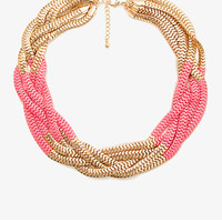 Colorblocked Snake Chain Necklace
