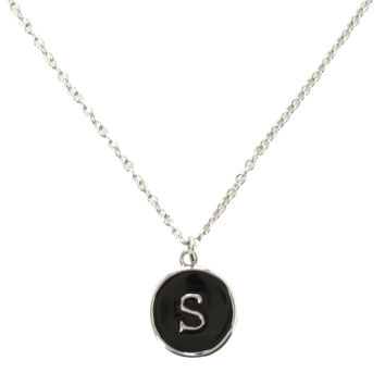 Lower Case S Initial Necklace