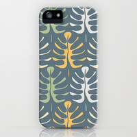 My  leaves on blue iPhone & iPod Case by Juliagrifol designs