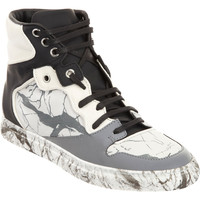 Marbled Multimatieres High Top