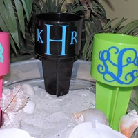 Monogrammed Coastal Beach Beverage Spikers