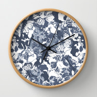 My blue butterflies Wall Clock by Juliagrifol designs