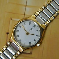 Vintage Yves Saint Laurent Watch Authentic Made in by dorizgem