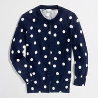 Factory Clare cardigan in big dot - cardigans - FactoryWomen's Sweaters - J.Crew Factory
