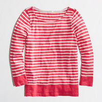 Factory stripe boatneck tee - long sleeve - FactoryWomen's Knits & Tees - J.Crew Factory